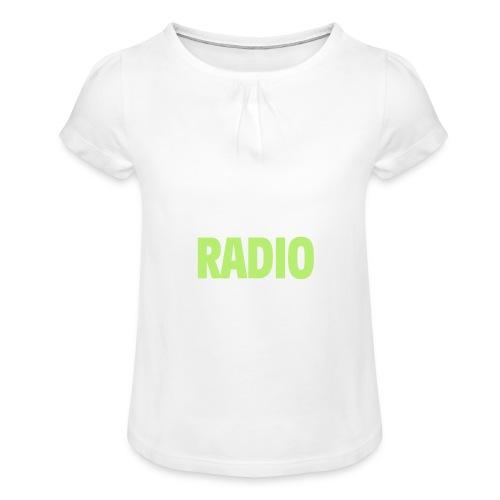 Eat Sleep Radio Repeat T-shirt - T-shirt med rynkning flicka