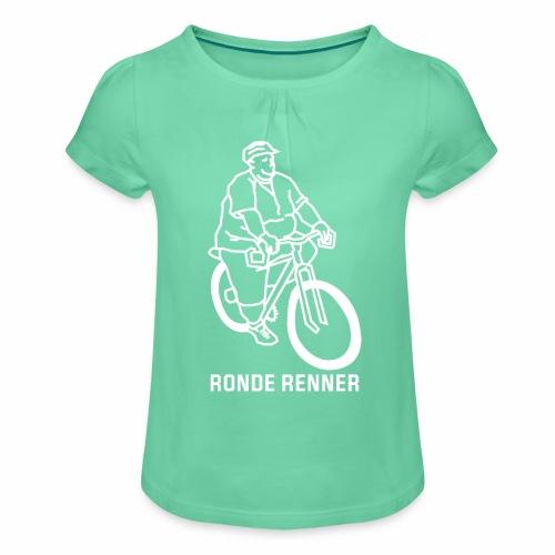 Ronde Renner - Meisjes-T-shirt met plooien