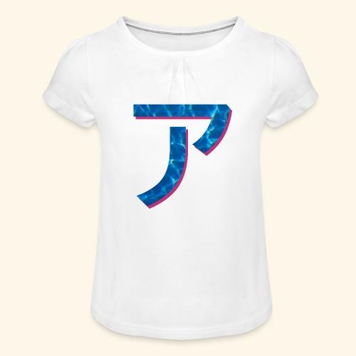ア logo - T-shirt à fronces au col Fille