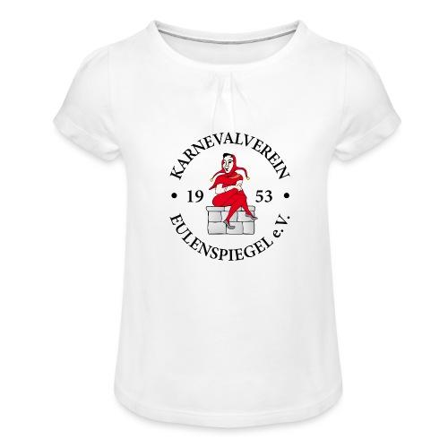 KVE Clubdesign - Mädchen-T-Shirt mit Raffungen