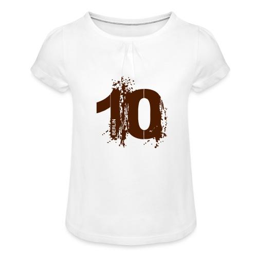 City 10 Berlin - Mädchen-T-Shirt mit Raffungen