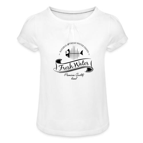 FreshWater 28cm Breite - Mädchen-T-Shirt mit Raffungen