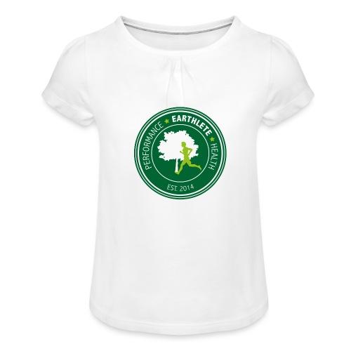 EARTHLETE Brand Logo - Pige T-shirt med flæser