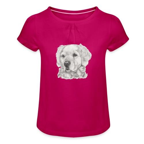 golden retriever - Pige T-shirt med flæser