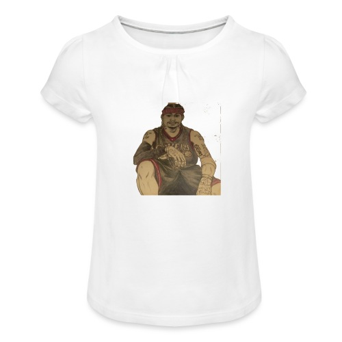 jugador - Camiseta para niña con drapeado
