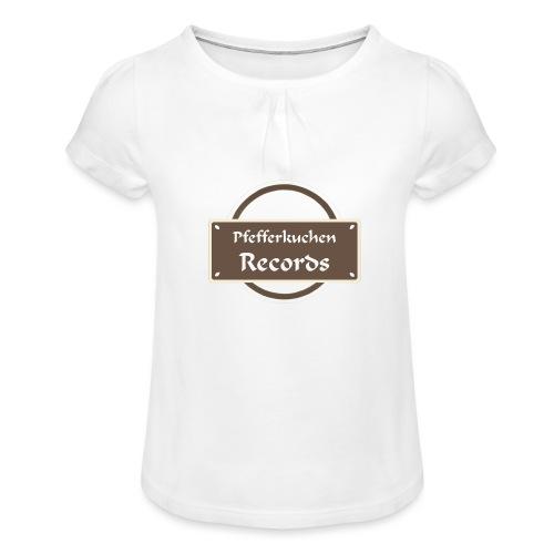 Pfefferkuchen Records Label - Mädchen-T-Shirt mit Raffungen