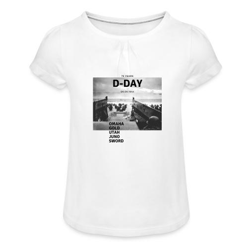 75 Jahre D-Day - Mädchen-T-Shirt mit Raffungen