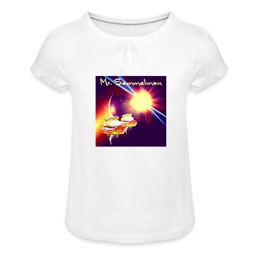 Mr Semmelman Space - T-shirt med rynkning flicka