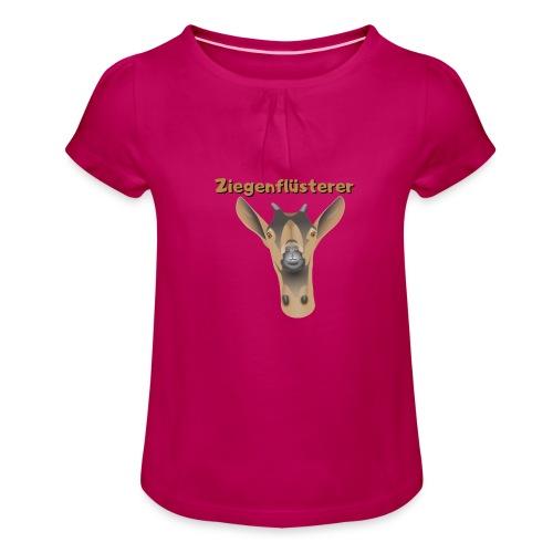 Ziegenflüsterer - Mädchen-T-Shirt mit Raffungen