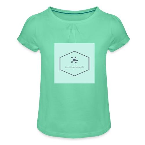 Ich bin nicht so dumm wie du aussiehst - Mädchen-T-Shirt mit Raffungen