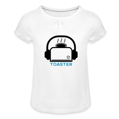 Toaster Logo - Tyttöjen t-paita, jossa rypytyksiä
