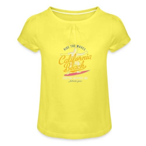 Ride the Waves - Mädchen-T-Shirt mit Raffungen
