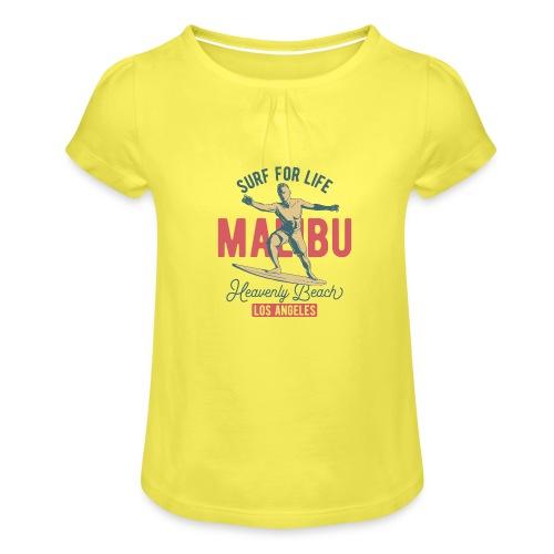 Surf for Life - Mädchen-T-Shirt mit Raffungen