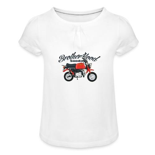 gorilla - T-shirt à fronces au col Fille