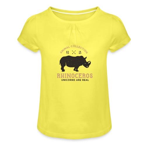 Einhörner sind real... - Mädchen-T-Shirt mit Raffungen