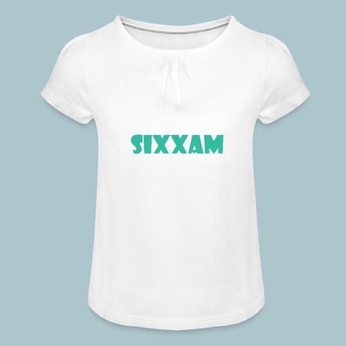 sixxam logo blauw - Meisjes-T-shirt met plooien