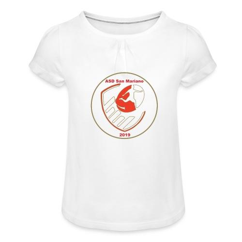 Logo ASD San Mariano 2019 - Maglietta da ragazza con arricciatura