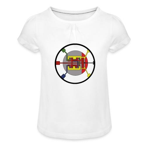 JackJohannes Hemp's Oscillator - Meisjes-T-shirt met plooien