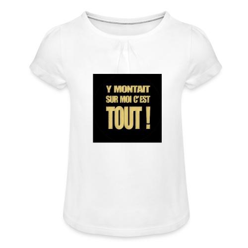 badgemontaitsurmoi - T-shirt à fronces au col Fille