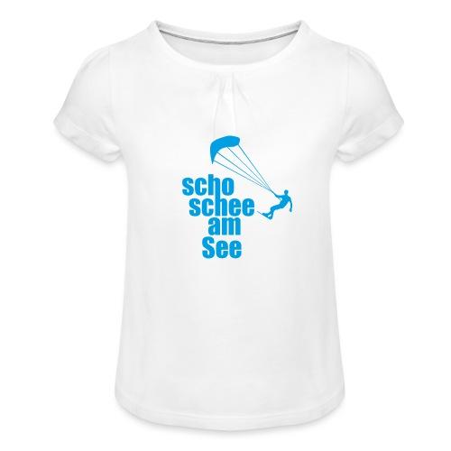 scho schee am See Surfer 01 kite surfer - Mädchen-T-Shirt mit Raffungen