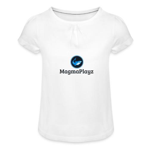 MagmaPlayz shark - Pige T-shirt med flæser