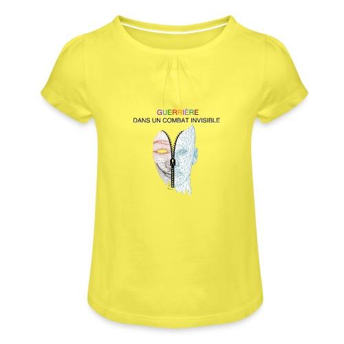 Guerrière dans un combat invisible 02 - T-shirt à fronces au col Fille