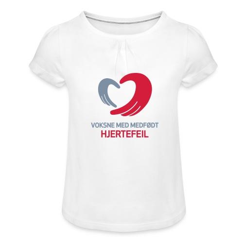 VMH__spreadshirt - Jente-T-skjorte med frynser