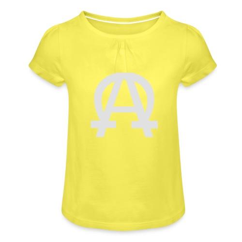 alpha-oméga - T-shirt à fronces au col Fille