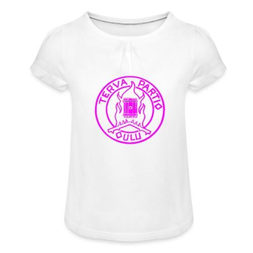 TP-neo - Tyttöjen t-paita, jossa rypytyksiä