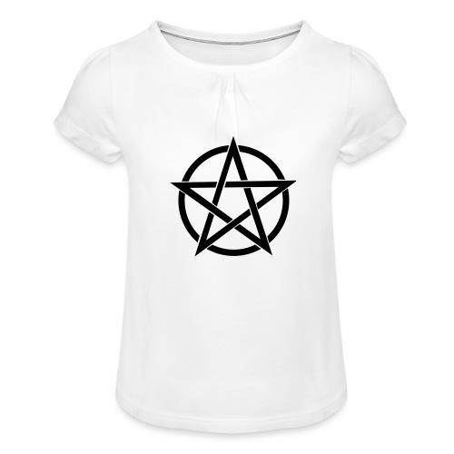 Pentagramme Wicca - T-shirt à fronces au col Fille