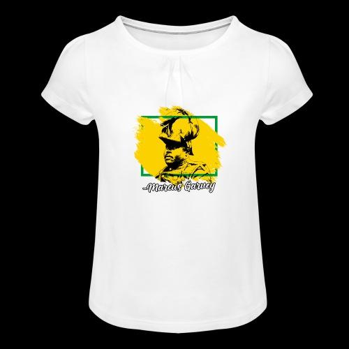 MARCUS GARVEY by Reggae-Clothing.com - Mädchen-T-Shirt mit Raffungen