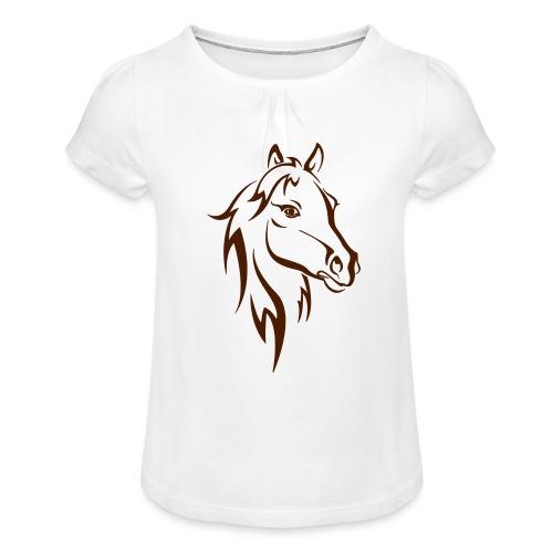 Vorschau: Horse - Mädchen-T-Shirt mit Raffungen