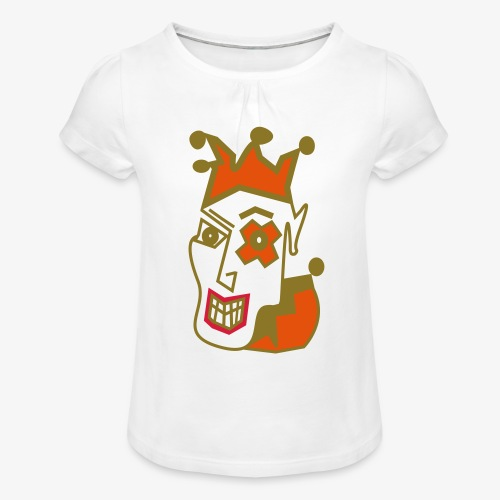 Crazy Jester by Brian Benson Men's Women's Premium - Girl's T-Shirt with Ruffles