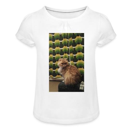 Nikke20 Okra Fani - Tyttöjen t-paita, jossa rypytyksiä