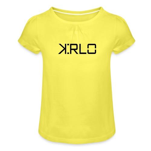 Kirlo Logotipo Negro - Camiseta para niña con drapeado