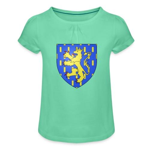 Blason de la Franche-Comté avec fond transparent - T-shirt à fronces au col Fille