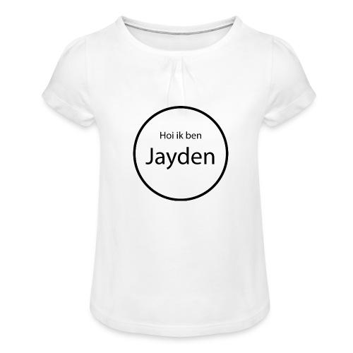 Jayden - Meisjes-T-shirt met plooien