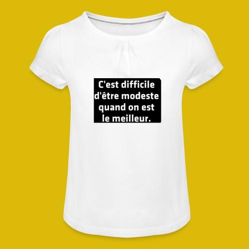 PAR FEE - T-shirt à fronces au col Fille