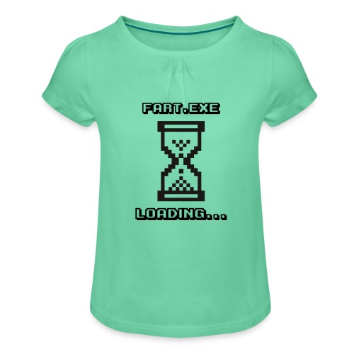Fart Loading - Girl's T-Shirt with Ruffles