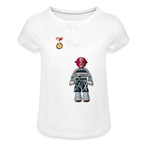 Trashcan - Mädchen-T-Shirt mit Raffungen