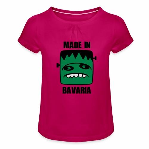 Fonster made in Bavaria - Mädchen-T-Shirt mit Raffungen