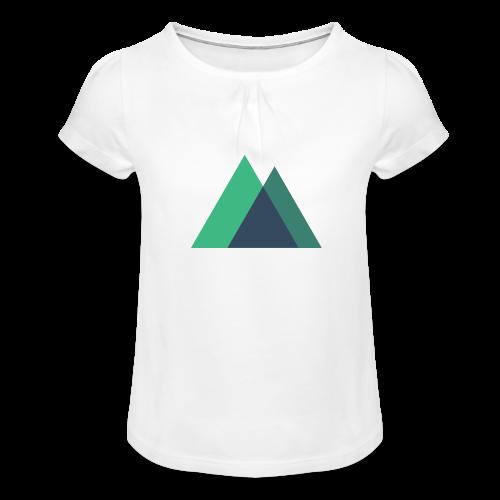 Mountain Logo - Girl's T-Shirt with Ruffles