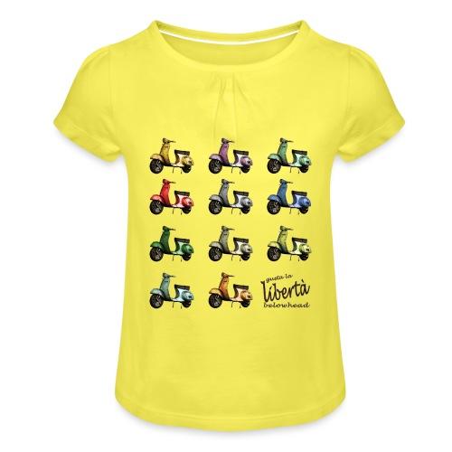 ♂ BIO-SHIRT: gusta la libertà - Mädchen-T-Shirt mit Raffungen