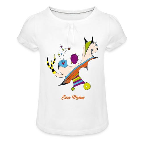 Ester Mobul - T-shirt à fronces au col Fille