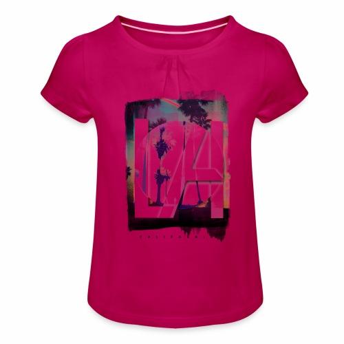 LA California - Girl's T-Shirt with Ruffles