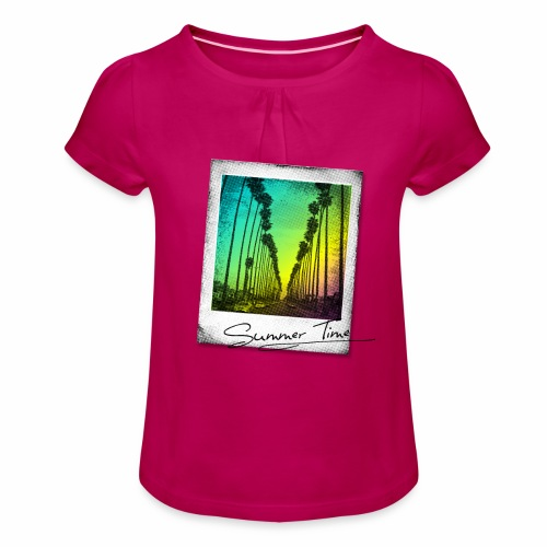 Summer Time - Girl's T-Shirt with Ruffles