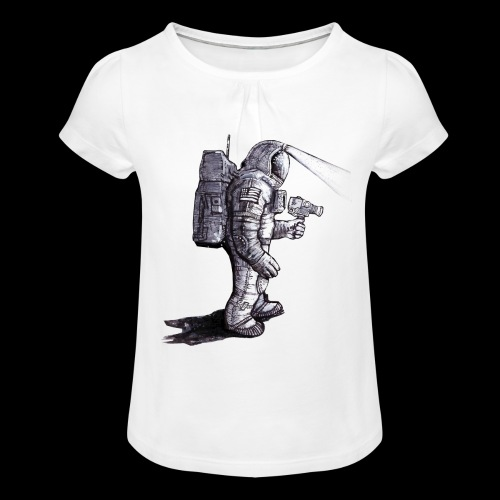 Lost Astronaut - Girl's T-Shirt with Ruffles