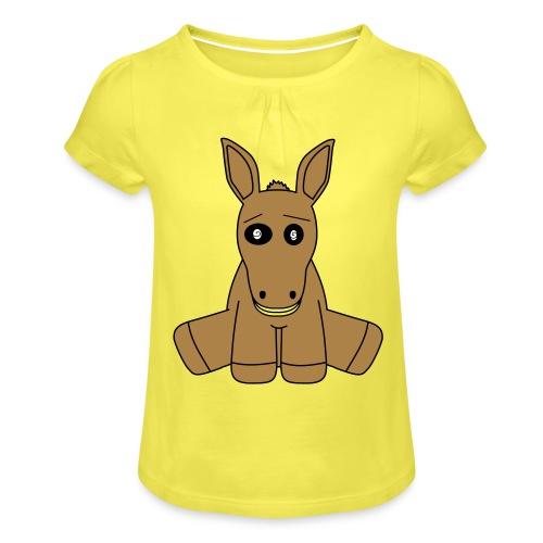 horse - Maglietta da ragazza con arricciatura