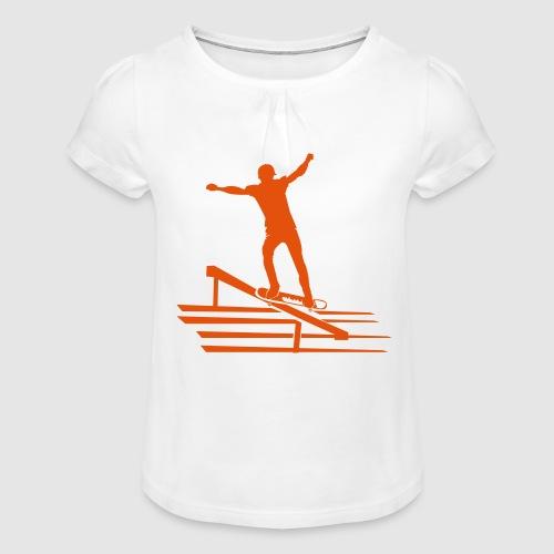 Skateboard - Mädchen-T-Shirt mit Raffungen
