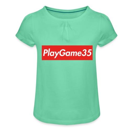 PlayGame35 - Maglietta da ragazza con arricciatura